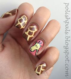 Giraffe Nails! <3