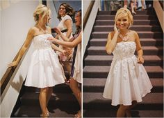 LOVEE this short wedding dress-def reception!