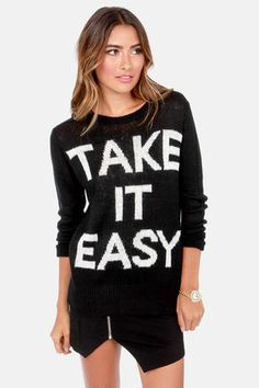 Element Eden Slacker Black Sweater at LuLus.com! When the sun goes down, it's nice to have a cute sweater to slip over whatever you're wearing.