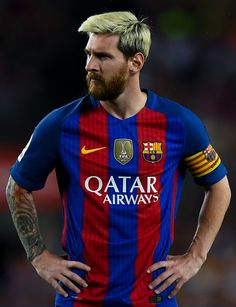 Lionel Messi of FC Barcelona looks on during the La Liga match between FC…