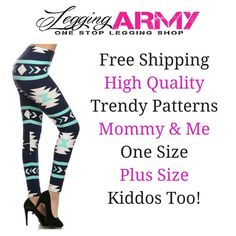"https://leggingarmy.com/#JackieSmith  This is my website for leggings that are half the price of LulaRoe. They are durable, comfortable, and come in great patterns or solid colors. There is an option for fleece-lined leggings as well to you keep you warm this season! If you decide to order you just use the above link and put in Jackie Smith in ""affiliates name"" show some love"