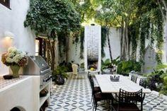 garden, spanish, white