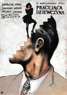 from Polish Posters of American Films: Working Girl...