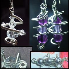 Free Wire Wrapping Patterns | Jewelry Tutorials Earrings - Wire wrap Spiral Meditation Earrings ...