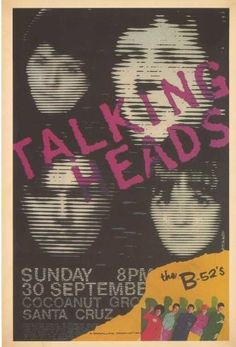 talking heads / B-52's concert poster