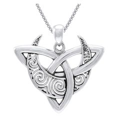 online shopping for Jewelry Trends Sterling Silver Celtic Triquetra Moon Goddess Trinity Knot Pendant Necklace 18 from top store. See new offer for Jewelry Trends Sterling Silver Celtic Triquetra Moon Goddess Trinity Knot Pendant Necklace 18 Celtic Knot Necklace, Long Chain Necklace, Moon Necklace, Long Necklaces, Jewelry Necklaces, Necklace Box, Craft Jewelry, Nameplate Necklace, Garnet Necklace