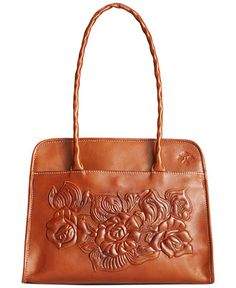 Patricia Nash Large Tooled Rose Paris Satchel - Handbags & Accessories - Macy's