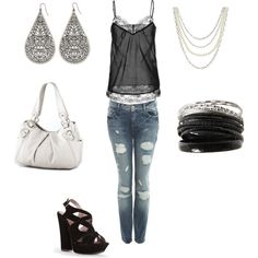 black and white, created by jill-monaco on Polyvore