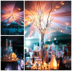 Wedding uplighting on Fit for a Bride blog. (Evermore Photography)