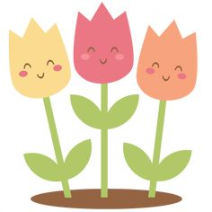 Happy Tulips: Miss Kate Cuttables-- SVG scrapbook cut file cute clipart files for silhouette cricut pazzles free svgs free svg cuts cute cut files Cute Clipart, Flower Clipart, Plant Painting, Fabric Painting, Animal Crafts For Kids, Art For Kids, Simple Flower Drawing, Kindergarten Design, Funny Cartoons