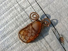 Sea Mermaid Pendant Christmas gift Sea glass pendant Brown by Spti