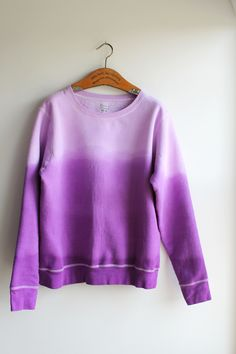 The Forge: diy: ombre dip dye sweatshirt