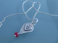 One True Love  Hand stamped sterling silver by SissyPretties, $32.00