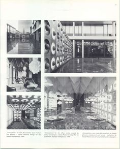 unfortunately became history lately: Spiegel canteen in Hamburg by Verner Panton (1968)