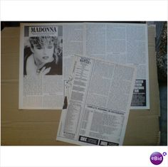 Madonna. Madonna Disco Star 3 page feature Record Collector magazine