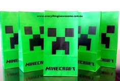 10 pcs Minecraft Birthday Party Lolly Loot Popcorn Paper Bags Green Creeper - http://www.austree.com.au/ads/baby-children/other-baby-children/10-pcs-minecraft-birthday-party-lolly-loot-popcorn-paper-bags-green-creeper/26376/