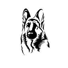 Afbeeldingsresultaat voor german shepherd tattoo