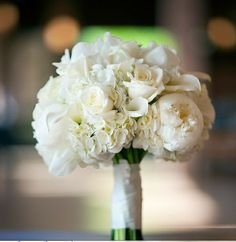 Hydrangea, Peonies, and Roses Wedding Bouquet