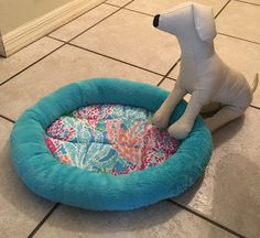 A personal favorite from my Etsy shop https://www.etsy.com/listing/497611660/lilly-pulitzer-pet-dog-cat-bed-lets-cha