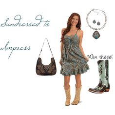 """""""Sundressed to Impress"""" by westernglamour on Polyvore"""