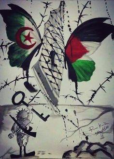 من أجمل الصور .. الجزائر و فلسطين روح واحدة هدف واحد