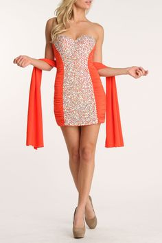 Colors Dress Lover Dress In Orange - Beyond the Rack
