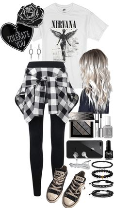 The easiest way to find the perfect outfit Black and White Grunge Grunge Outfits, Cute Emo Outfits, Bad Girl Outfits, Gothic Outfits, Teen Fashion Outfits, Teenager Outfits, Edgy Outfits, Outfits For Teens, Cute Emo Clothes