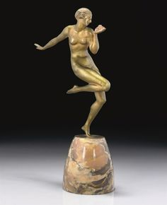 GAUTHIER | A COLD-PAINTED BRONZE FIGURE, CIRCA 1925