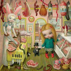 Mark Ryden_the meat show_butcher_bunny