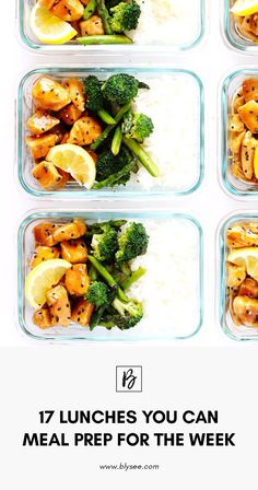 17 Lunches You Can Meal Prep For The Week #mealplanning #healthy #forbeginners #forweightloss