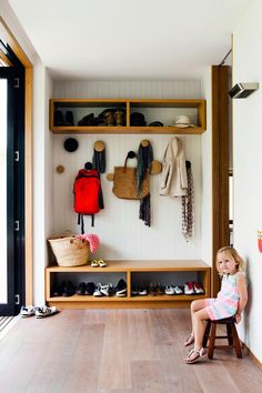 Contemporary mud room. | Photo: Maree Homer | Story: Australian House & Garden