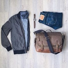 #SuitGrid by: @mitchyasui ________________________________________  Follow @inisikpe for daily style/advice #SuitGrid to be featured  IniIkpe.com for fashion updates and more ________________________________________ Tap For Brands  Bomber Jacket: @frankandoak Shirt: @bananarepublic Denim: @levis Bag/Watch: @fossil