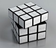 Braille Rubix cube: Braille Rubix cube - because omg yes! I want to rubix in the dark