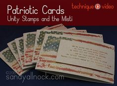 Unity Bloghop: Making patriotic cards with the #Misti