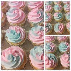 Gender reveal cupcaked