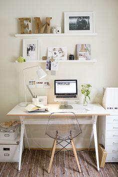 Small home #office inspiration #homeofficeideaspretty