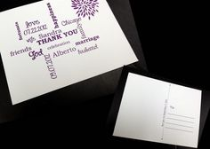 personalized thank you postcards for post bridal shower