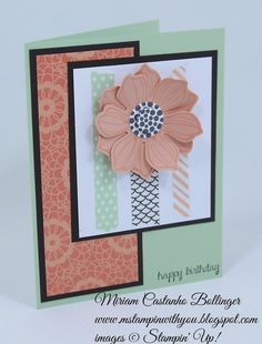 Miriam Castanho Bollinger, mstampinwithyou, stampin up, demosntrator, mm375, gold soiree specialty dsp, sweet sadie washi tape, beautiful bunch, and many more stamp set, fun flower punch, heat embossing, su
