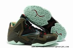 new concept eb056 768d2 Nike LeBron 11 Armory Slate Black Metallic Pine Green-Glow Dark Nike Kd Vi