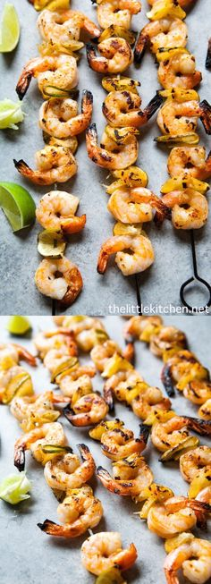 (so easy to make and you'll love it!) Sriracha Lime Grilled Shrimp from thelittl… – Easy Family Recipes Food Grilling Recipes, Fish Recipes, Seafood Recipes, Cooking Recipes, Healthy Recipes, Healthy Food, Fish Dishes, Seafood Dishes, Fish And Seafood