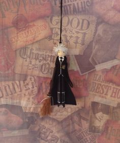 Madam Hooch Clothespin Doll Ornament by LittleParade on Etsy