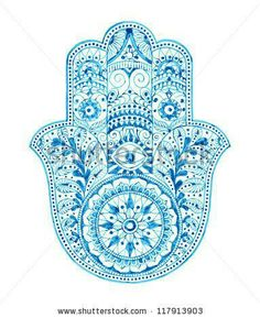 Care to know why the hamsa jewelry is so popular? oNecklace will tell you all about the meaning of hamsa Hamsa Tattoo, Mandala Tattoo, Hamsa Design, Mandala Design, Mandala Pattern, Adult Coloring, Coloring Books, Coloring Sheets, Hand Coloring