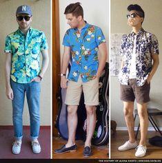 Men's Hawaiian Shirts Outfit Inspiration Lookbook   Varios ...