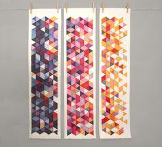 Geometric Serigraphs by Breyna Fries. We really like the geometric patterns.
