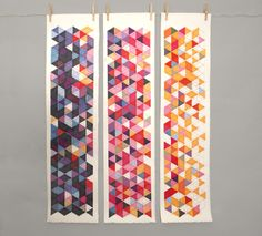 Geometric Serigraphs by Breyna Fries, via Behance