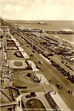 Brighton Front Brighton East Sussex, Brighton England, Brighton And Hove, Seaside Resort, Visit France, Old Postcards, Study Abroad, United Kingdom, Scotland