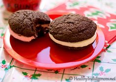 Healthy Chocolate Whoopie Pies: Sugar & gluten FREE (not my mom's recipe but bet they're almost as good)