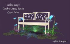 Merchant: Little 2 Large Prize Name: Gordy's Legacy Bench Prize Type: Decor Outdoor Furniture, Outdoor Decor, Bench, Type, Home Decor, Psalms, Decoration Home, Room Decor, Benches