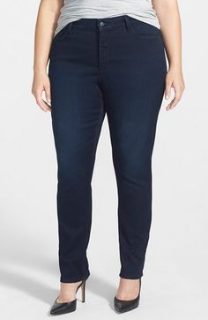 Free shipping and returns on NYDJ 'Jade' Stretch Skinny Jeans (Norwell Wash) (Plus Size) at Nordstrom.com. A deeply saturated wash with tonal stitching enhances the sleek look of polished skinny jeans cut from super-stretchy denim. Exclusive lift-tuck technology helps flatten the tummy and lift the rear.