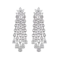 If you thought diamonds were predictable then you haven't seen Nirav Modi's jewels, which bring new light and life to the game. Jewelry For Her, High Jewelry, Luxury Jewelry, Diamond Bangle, Diamond Earrings, Diamond Jewellery, Hazoorilal Jewellers, Designer Earrings, Colored Diamonds